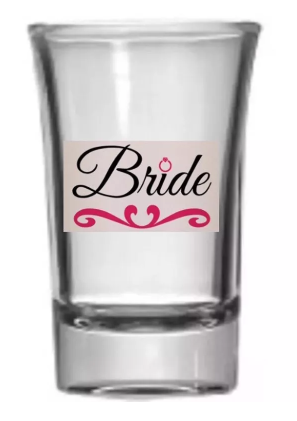 Hand Painted Bride & Bridesmaids Shot Glasses Shower Party????????