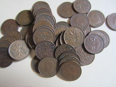 Roll of 1944 Canada Small Cents (50 Coins)