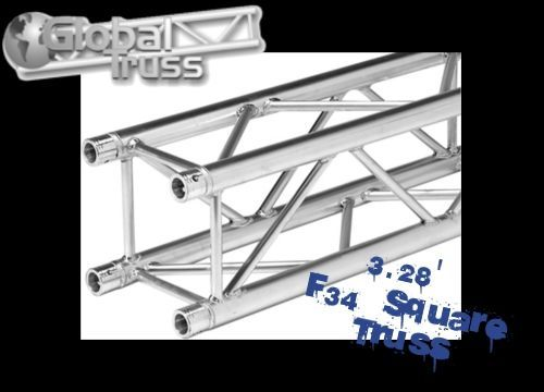 NEW 3.28ft (1m) SQ-4110 Global Truss F34 Square Truss Free Same Day Shipping!