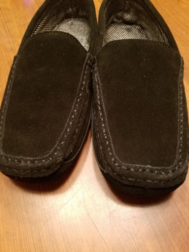 Bearpaw Peeta Moccasins 10 M Slippers Black Tweed  Mens