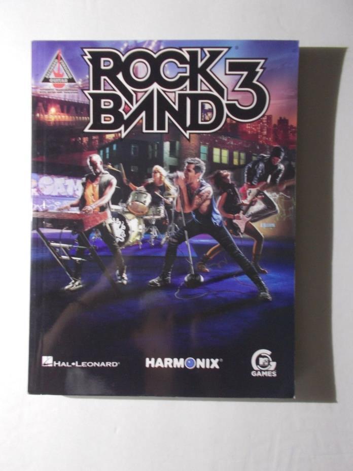 * ROCK  BAND 3- -Songbook-  vintage-unused HAL LEONARD-HARMONIX-MTV
