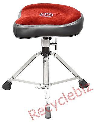 NEW! Roc n' Soc Manual Spindle Red Hugger Drum Throne MS H-R
