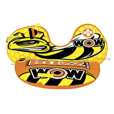 WOW Watersports 14-1040 Buzz Boat Towable Tube 1 Person Marine Water Boat Toy