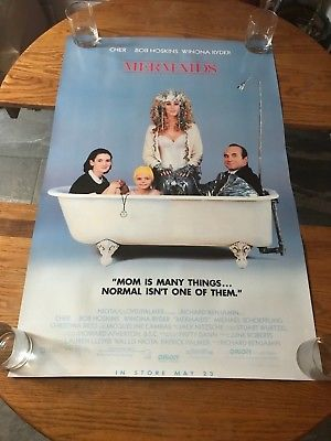 MERMAIDS - CHER, WINONA RYDER  - VINTAGE MOVIE POSTER!