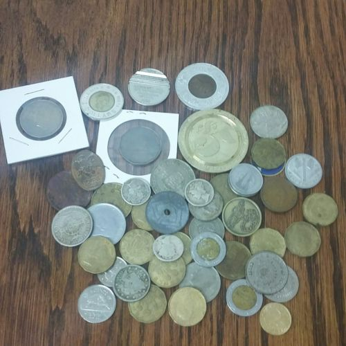 HUGE junk drawer Collectable COIN LOT with SILVER