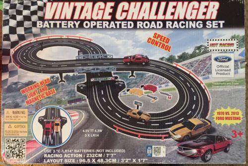 Vintage Challenger R/C Battery Operated Slot Car Set
