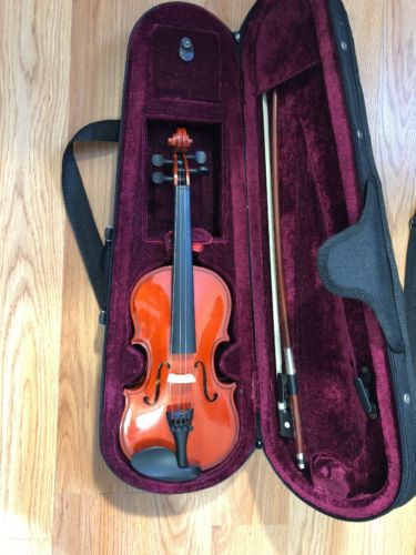 1/16 Sized Pre Owned And Slightly Used Childrens Violin