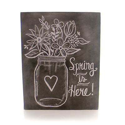 Home Decor SPRING IS HERE CHALK SIGN Wood Flowers Wood Decor 23185
