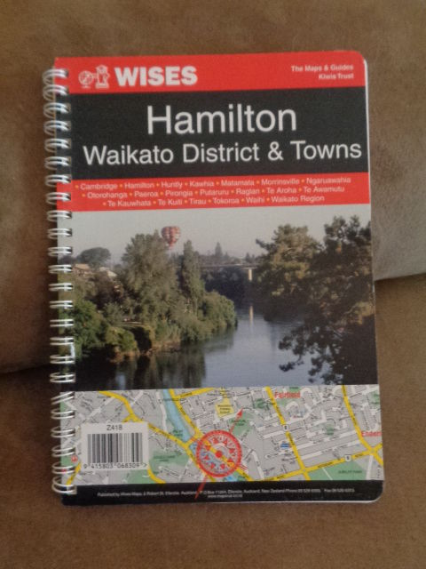 Book WISES New Zealand Maps Guide Hamilton Waikato Region District & Towns