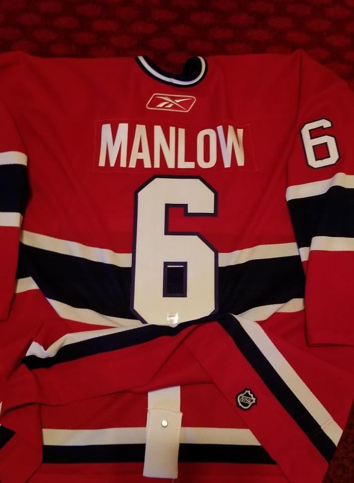 MANLOW MONTREAL CANADIENS GAME WORN USED JERSEY BRUINS BLACKHAWKS NHL OHL AHL