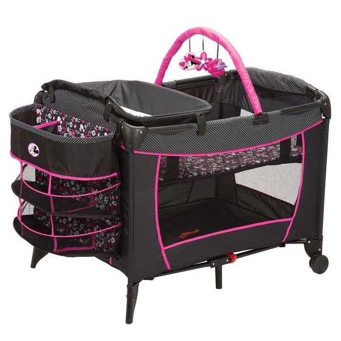 NEW Disney Deluxe Care Center Play Yard Crib Nursery Minnie Mouse