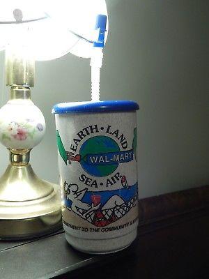 WAL-MART (Earth, Land, Sea, Air) 32oz Whirley TRAVEL MUG *Coca-Cola* Vtg_Ltd