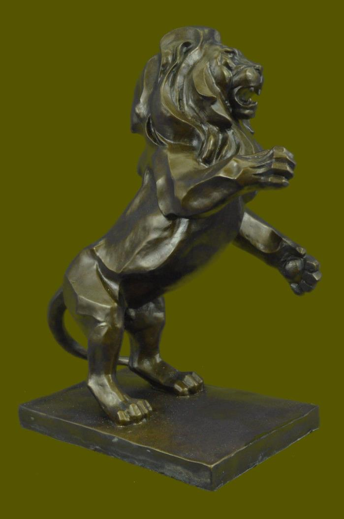 Huge Sale Bronze Roaring Lion and Mountain Lion Sculpture Henry Figurine SB