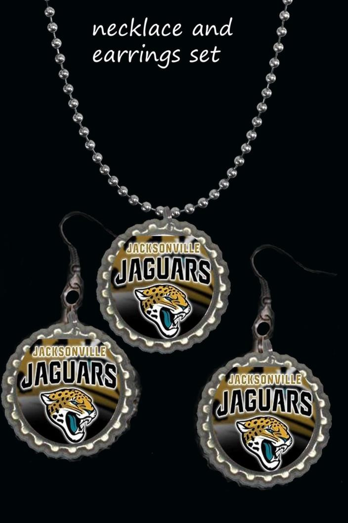 Jacksonville Jaguars Jags earring Earrings and necklace set great gift