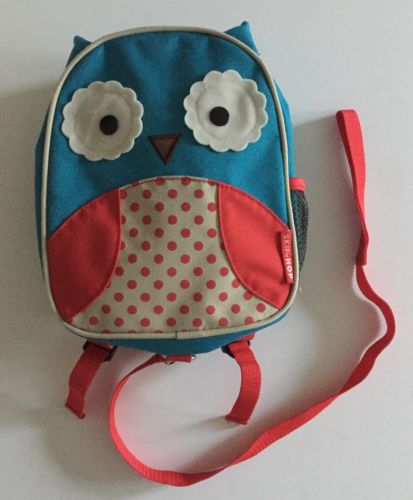 Skip Hop Zoo OWL Toddler Mini Backpack w/ Little Kid Safety Harness Parent Strap