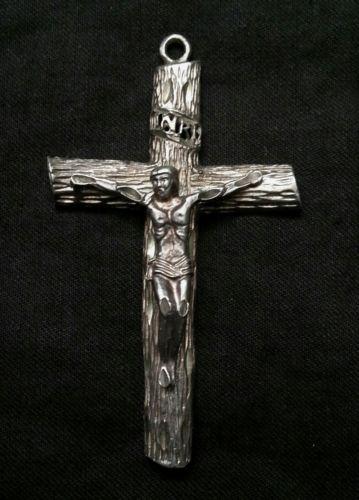 Vintage sterling silver crucifix cross 12.8 grams