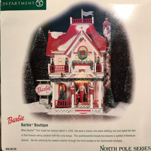 Department 56 BARBIE BOUTIQUE with Lights NORTH POLE Series (2002)