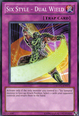 EXVC-EN073 YuGiOh! Trap Card SIX STYLE - DUAL WIELD Mint / NM - EXTREME VICTORY