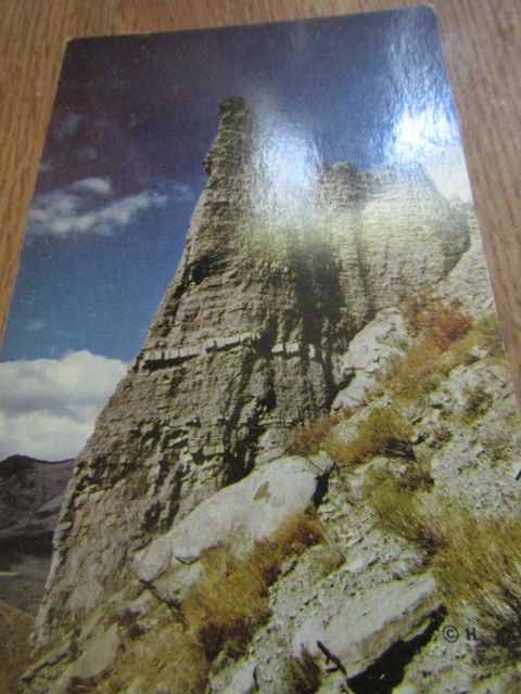 Eagles Nest Rock in Gardner Canyon Vintage Postcard
