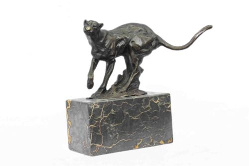 Cougar Mountain Lion Bronze Sculpture 7