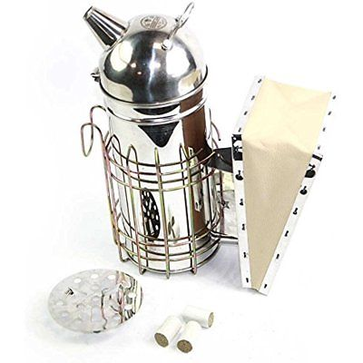 Home & Kitchen Features 11-Inch Stainless Steel Bee Hive Smoker With Pack Of