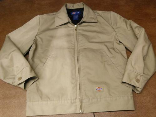 Mens (S) Original Dickies brand Heavyweight Constructed work jacket light Brown
