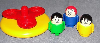 Vintage Playground Merry Go Round & People Yellow with Red - Shapes