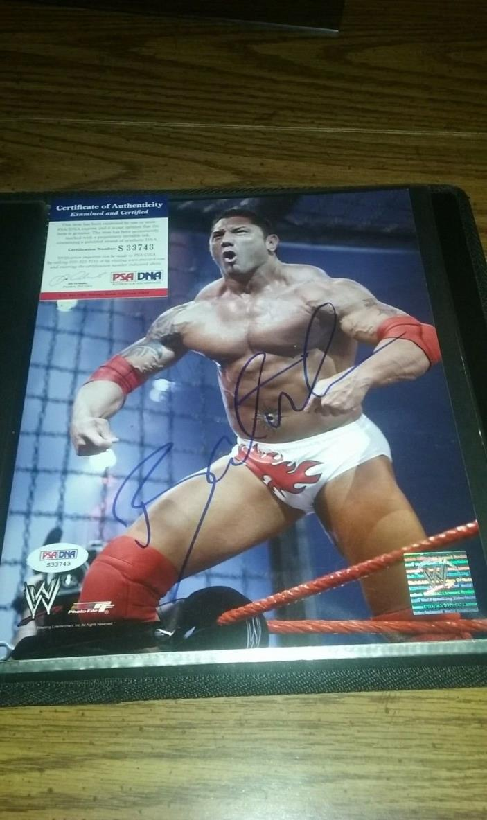 Dave Bautista *Batista* WWE Autographed 8x10 With PSA Certification