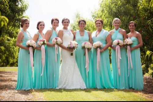 BEAUTIFUL! Infinity maxi bridesmaid dress