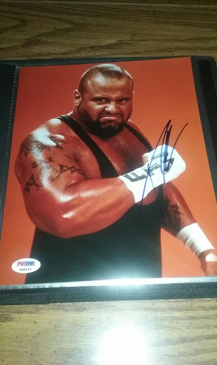 Taz ECW/WWE Autographed 8x10 With PSA Certification