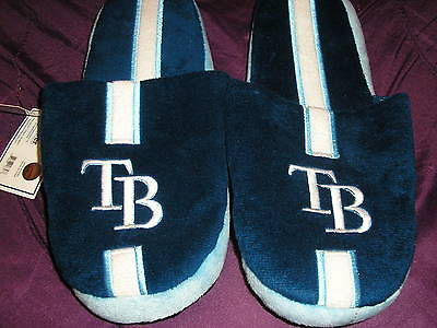 Tampa Bay Rays Mens Slip On Slippers Stripe