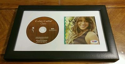 Colbie Caillat Signed Autographed CD Cover Framed PSA/DNA COA