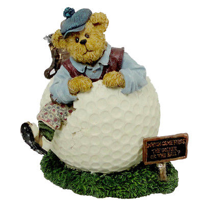 Boyds Bears Resin WILSON PUTTENSTUFF PAR FOR THE COURSE Golf Bearstone 2277991