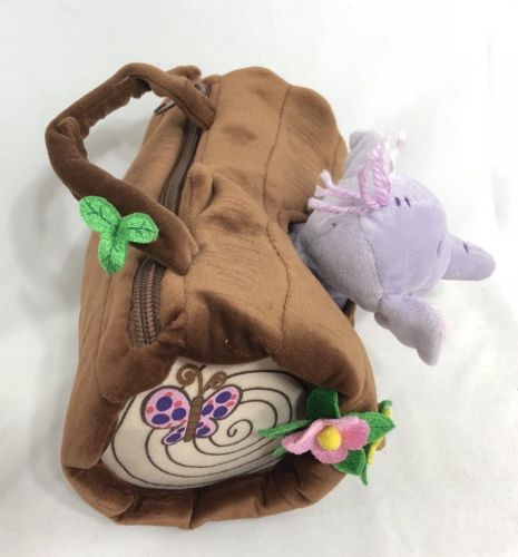 Disney Huffalump Purple Elephant With Small Log Purse Bag