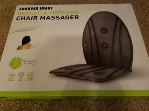 Sharper Image Heating & Vibrating Chair Massager