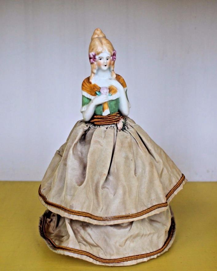 Antique HALF DOLL Foreign German? Bisque Porcelain - Beautiful - Swedish German?