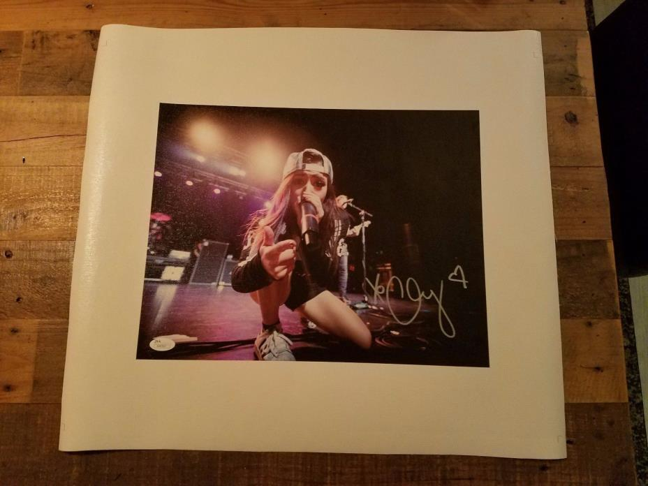 Chrissy Costanza SIGNED 18x20 Canvas Poster Auto  COA JSA  Against The Current