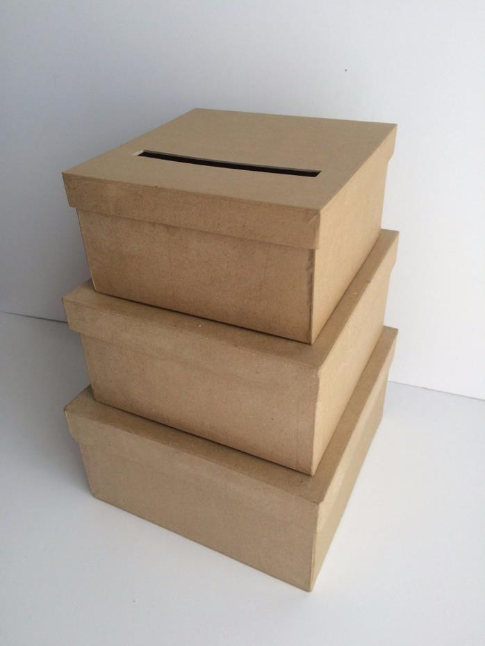 Three Tiered Wedding Card Box DIY Holds over 110 cards