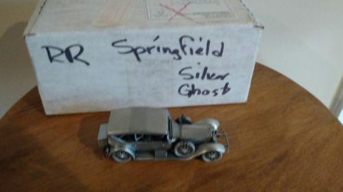 Danbury Mint Pewter -approx 1/43 scale 1923 Rolls Royce Springfield Silver Ghost