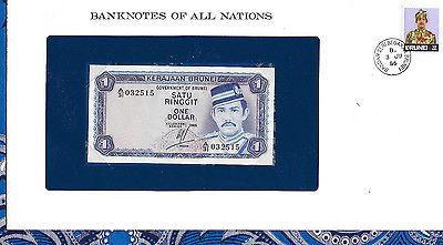 Banknotes of All Nations Brunei 1 Ringgit 1985 P6c UNC Prefix A/31