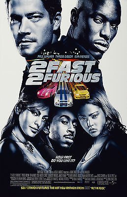 2Fast 2Furious movie poster Paul Walker poster 11 x 17 inches Fast & the Furious