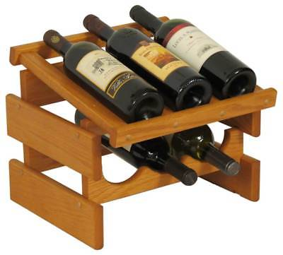 6-Bottles Wine Rack in Medium Oak Finish [ID 3175936]