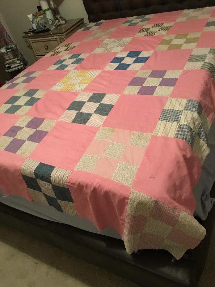 Large Vintage Quilt Topper