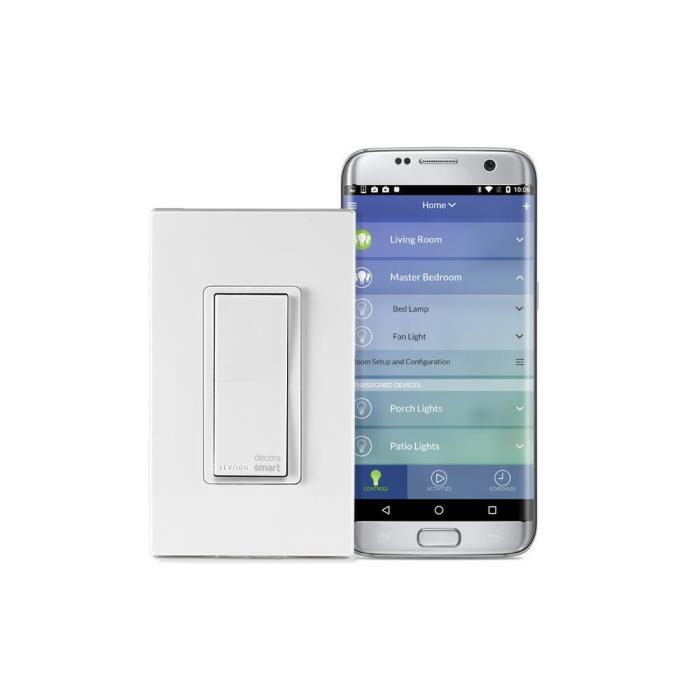 Leviton Decora Smart Wi-Fi 15A Universal LED/Incandescent Switch White