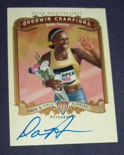 2012 Dawn Harper Upper Deck Goodwin Champions USA Track & Field Autographed Card