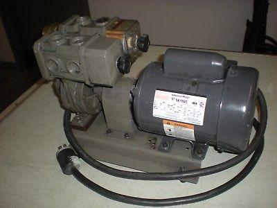 Japanese Vacuum Pump with Dayton Motor - 115VAC - Powers up & Pulls a Vacuum