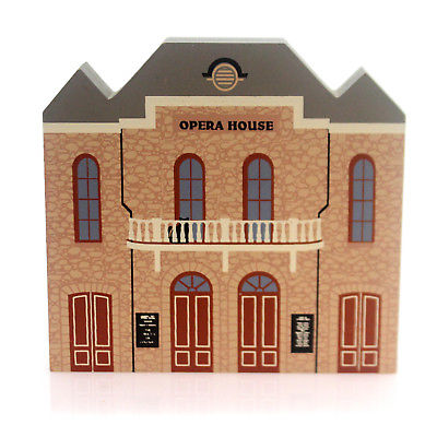 Cats Meow Village CITY OPERA HOUSE Wood Series Ix 9 Retired Last One 0901