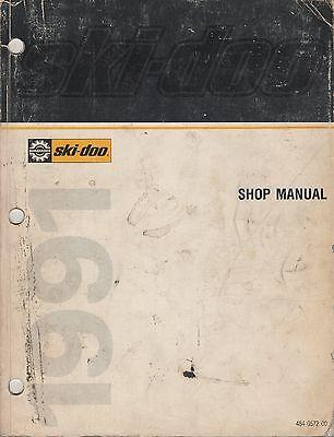 1991 SKI-DOO (see models in description) SHOP/SERVICE MANUAL 484 0572 00 (424)