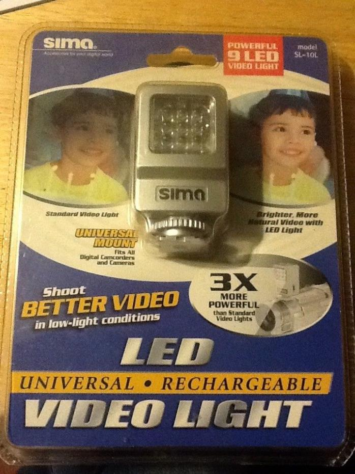 Sima (SL-10L) Universal Rechargeable Powerful 9 LED Video Light 3X brighter