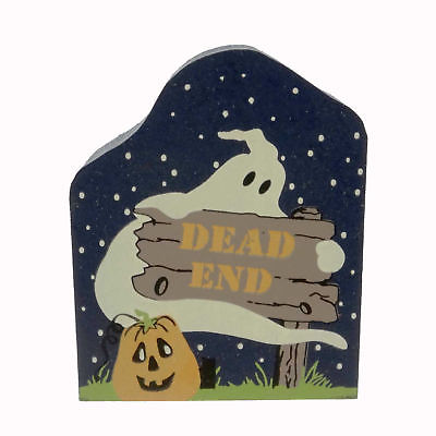 Cats Meow HALLOWEEN SIGN Pressed Wood Halloween Limited 2007 7635